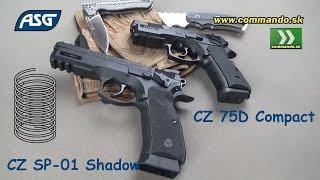 Airsoft manual ASG CZ SP-01 Shadow + CZ 75D Compact