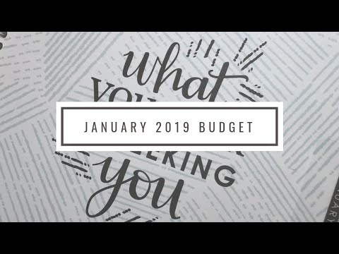 2019 January Budget | Budget Every Dollar with Me! | 2 Income Household w/1 Child | Income Shared