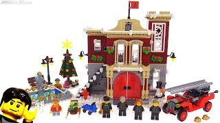 LEGO Creator Winter Village Fire Station review! 10263