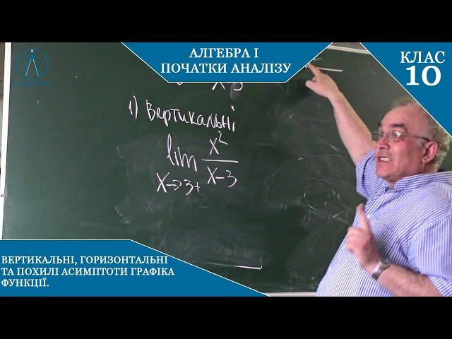 10 клас. Алгебра. Асимптоти графіка функції. Рівняння асимптот.