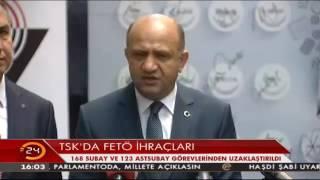 TSK'daki FETÖ soruşturması devam ediyor! 168 subay ve 123 astsubay görevden uzaklaştırıldı