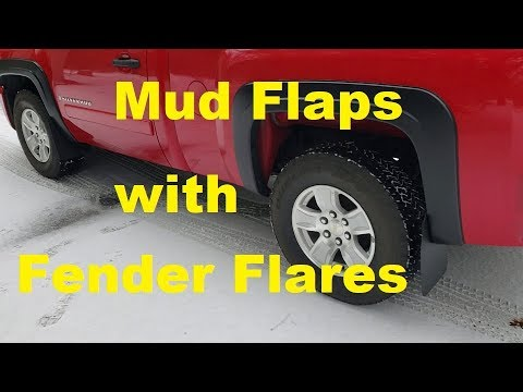 Mud Flaps with Fender Flares - YouTube