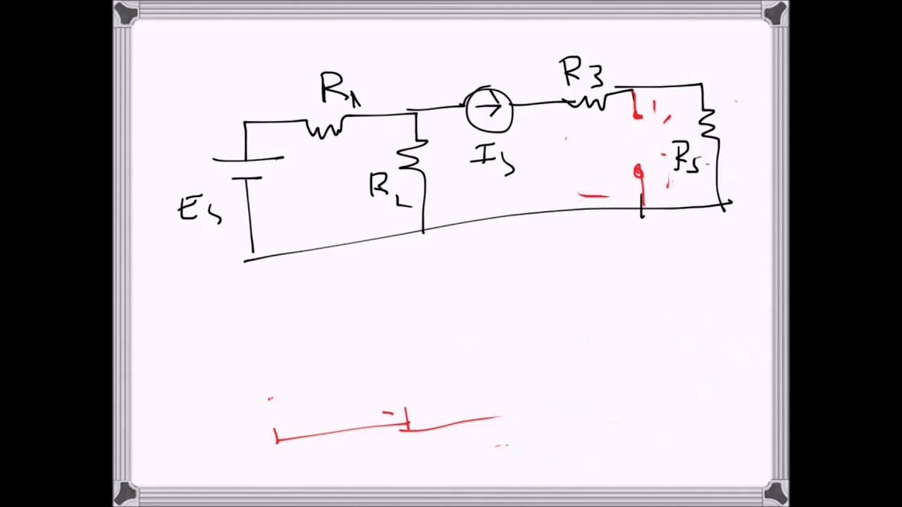 Electrical Engineering Circuit Solving Using Thevenin S