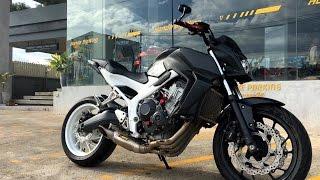 "Honda CB 650 F ""2016"" with Akrapovic Racing Line (Titanium) S-H6R12-HAFT"