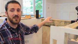 How to install countertop support bracket to make your countertop float