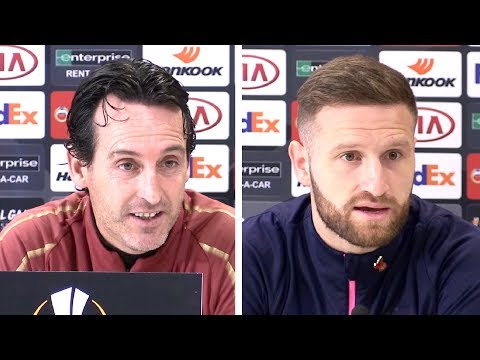 Unai Emery & Shkodran Mustafi Full Pre-Match Press Conference - Arsenal v Sporting - Europa League