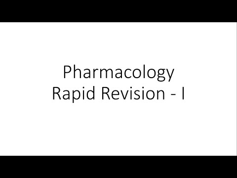 Pharmacology Rapid Revision
