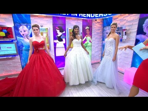 First Look at the Elsa-Inspired \'Frozen\' Wedding Gown - YouTube