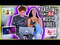 Reacting To My Old Music Video's W/ My Boyfriend *tea......