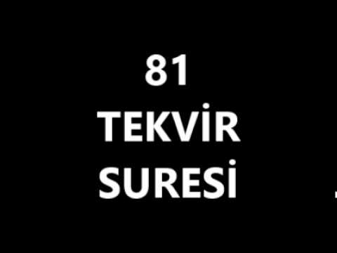 81 TEKVİR SURESİ