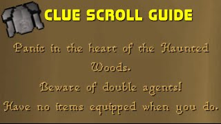 Clue Scroll Guide - Panic in the Heart of the Haunted Woods