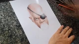 Speed Drawing - Nick Fury (Samuel L. Jackson)