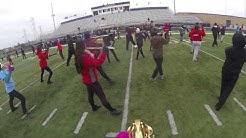 Goshen Crimson Marching Band 1-8-14 Go-Pro Sax-Cam (Last Practice)