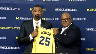 Michigan basketball coach Juwan Howard speaks at his introductory press conference