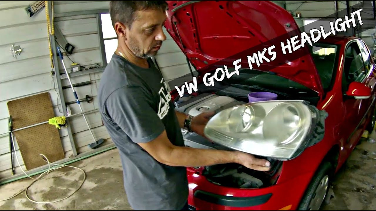vw Golf MK5 Headlight Assembly Removal and Replacement ...