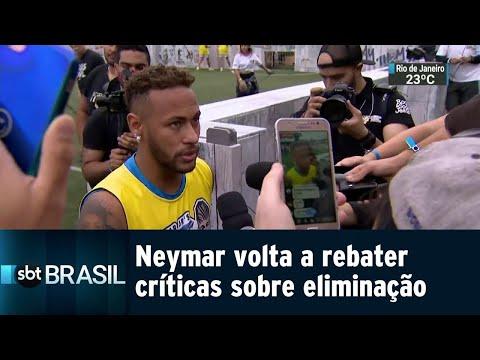 Neymar volta a comentar eliminação no Mundial e diz que o pior já passou | SBT Brasil (21/07/18)