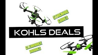 Kohls Stacking Coupons and Clearance Drones 😱