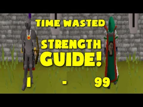 Runescape 2007: Time Wasted's 1-99 Strength Guide (1 Defence Pure)