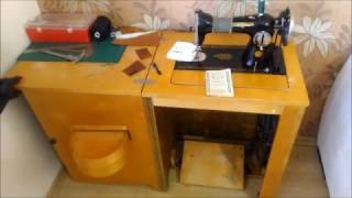 видео Швейная машинка с ножным приводом. Ремонт ножных швейных машин