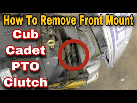 How To Remove The PTO Clutch On A Cub Cadet Riding Mower