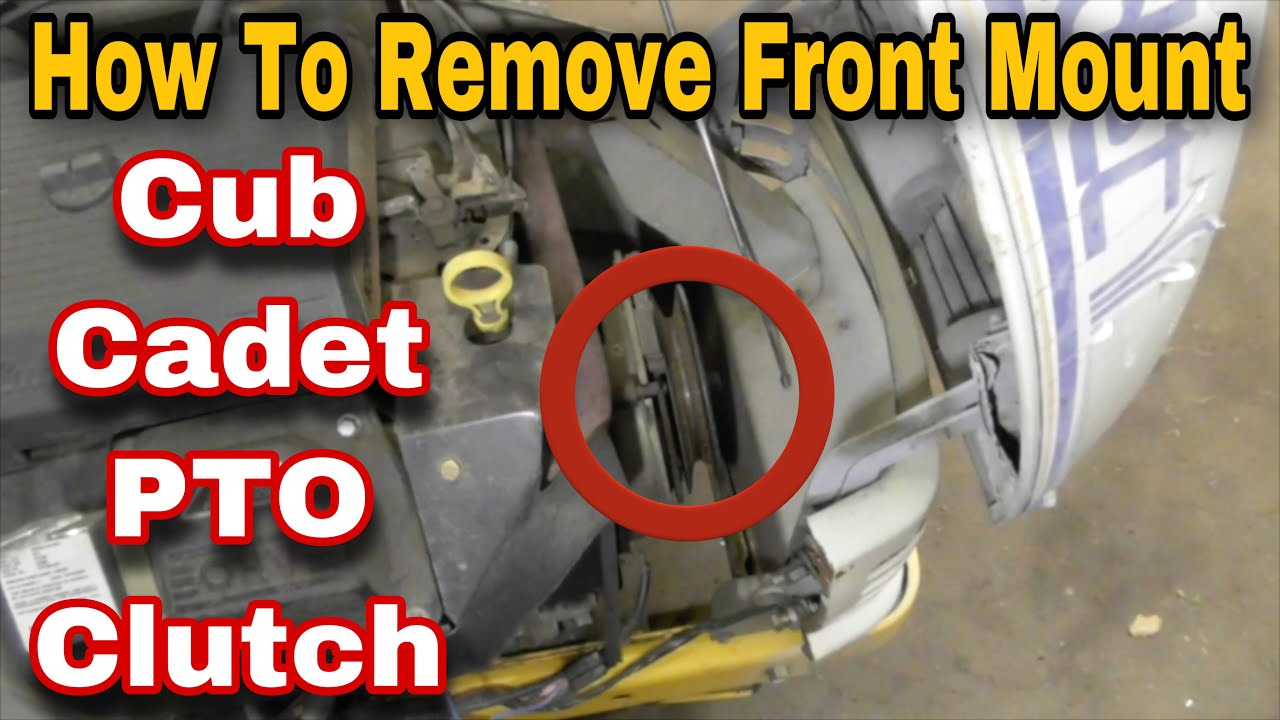 hight resolution of how to remove the pto clutch on a cub cadet riding mower mounted in front of engine with taryl