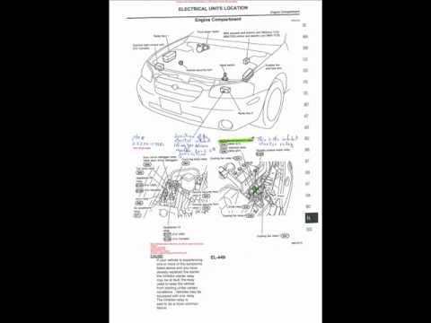 Nissan Maxima 2002 Starter Relay Inhibitor, on