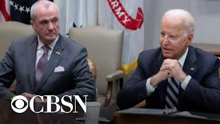 President Biden heads to NJ to promote spending plan