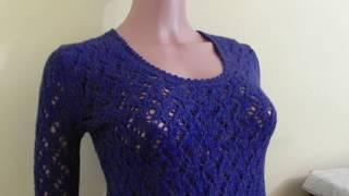 Вязание: Ажурный свитер №2,  узор  (спицами)