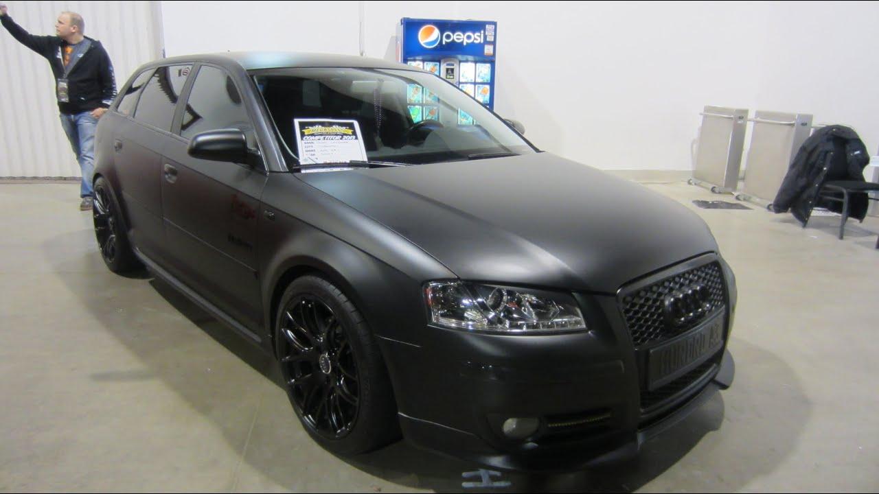 2007 Audi A3 Matte Black At 2013 Megaspeed Show Youtube