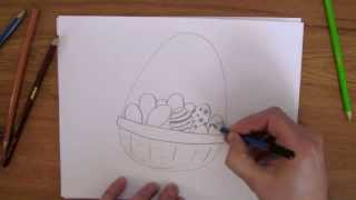 How To Draw: Easter Basket
