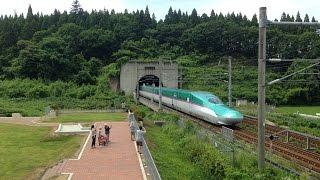 【北海道新幹線】大迫力の通過!はやぶさ11号 青函トンネル進入