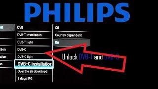 Телевізора Philips. Розблокування стандарту DVB-T і DVB-с тюнери з сервісним меню