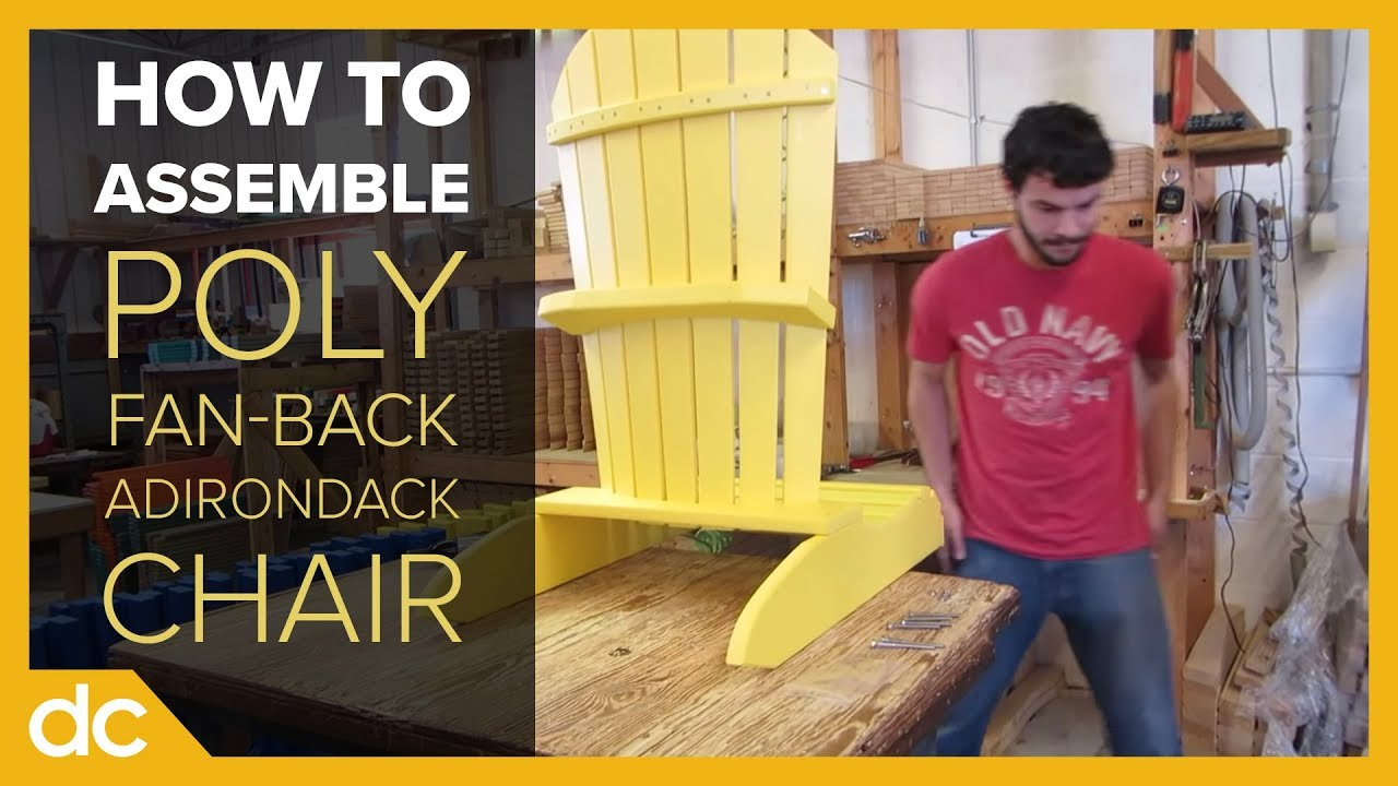 amish poly fan back adirondack chair youtube