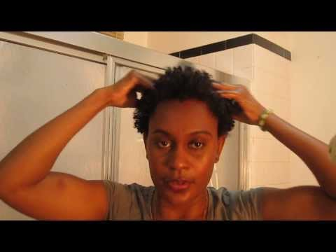Hair| Twist-out with Organic Coconut Oil & Water (old hair)