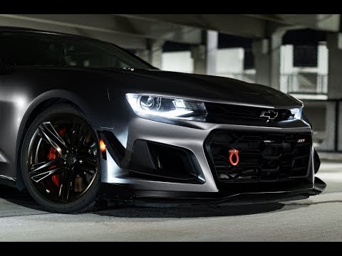 Dark Grey Satin Vinyl Wrap:  Camaro zl1 1le