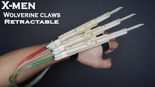 X-MEN WOLVERINE Retractable Claws - DIY Explained