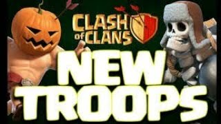 How to use the new troops in clash of clans