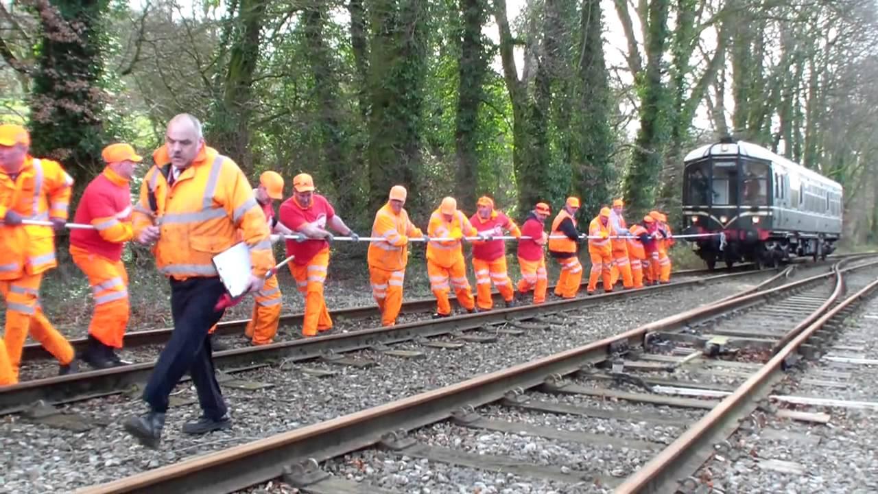 Sport Relief Train Pull at Wirksworth