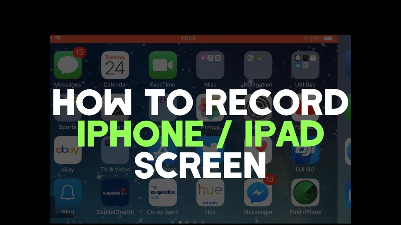 How To Screen Record Iphone Or Ipad Without A Computer Or App New Youtube