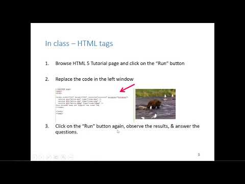 GIS540: Working With HTML (Ch 20.1)