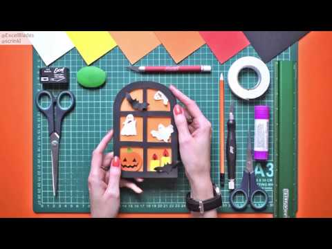 Excel Blades - How to make a Halloween Card DIY by @scrinkl