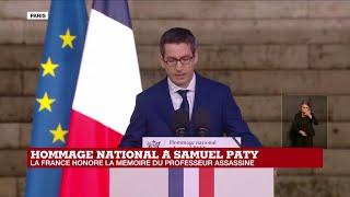 Hommage national à Samuel Paty : la France honore la mémoire du professeur assassiné