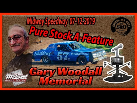 S03➜E342 Gary Woodall Memorial - Pure Stock A-Main - Lebanon Midway Speedway 07-12-2019