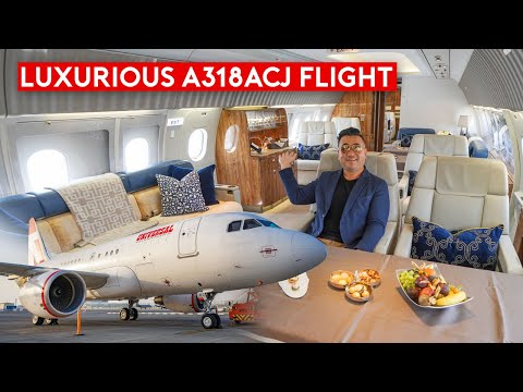 What's It Like to Fly Private? Flying Airbus Corporate Jet ACJ318