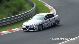 510HP Alfa Romeo Giulia Testing on the Nurburgring