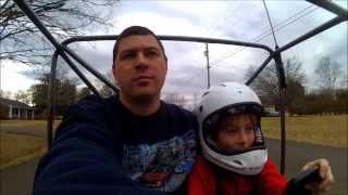 vivitar action cam test twin engine kart on the street