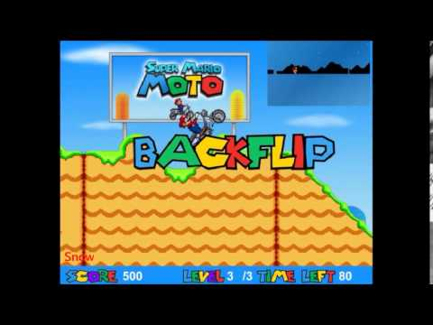 Flash Super Mario Moto Jeux De Trial Sur Pc Youtube