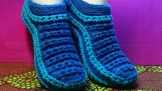 Вязание спицами тапочки #68