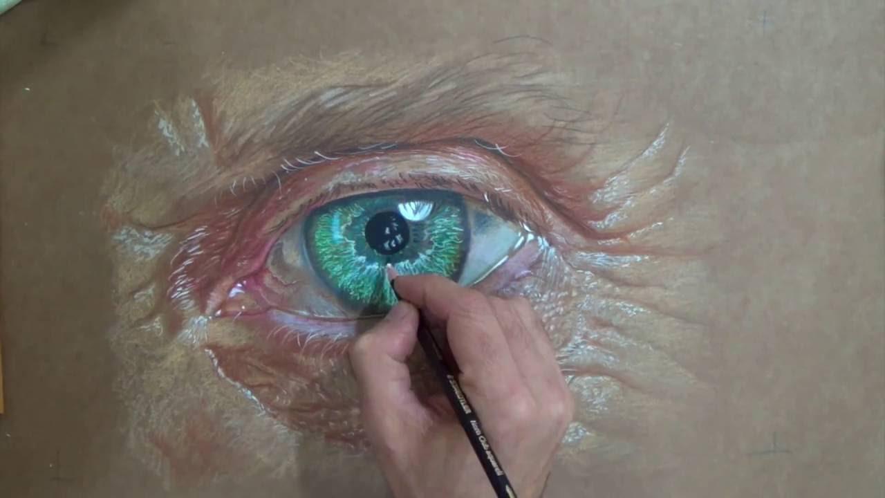 Wip Desenhando Um Olho Realista Colorido Curso De Desenho