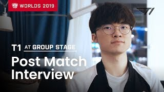 Faker. Khan and Kkoma Talk about T1's Group Stage Performance | T1 at Worlds 2019